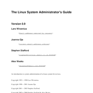 Linux System Administrator's Guide (SAG)